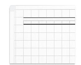 magnetoplan® Tableau quadrillé ferroscript® - quadrillage 25 x 25 mm