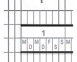 magnetoplan® Tableau quadrillé ferroscript® - semaine de 7 jours