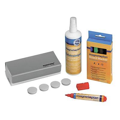 magnetoplan® Zubehörset, mini - für Whiteboard - Löscher, Reiniger, Marker, Magnete