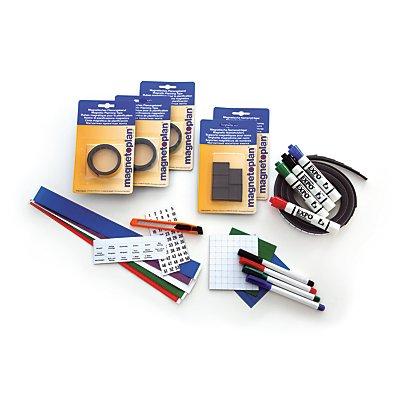 magnetoplan® Zubehörset 1 - für Jahresplaner MANAGER - Magnete, Marker, Magnetband, U-Profile mit Etiketten, Cutter