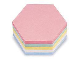 magnetoplan® Fiches cartonnées - format hexagonal, coloris assortis, lot de 500