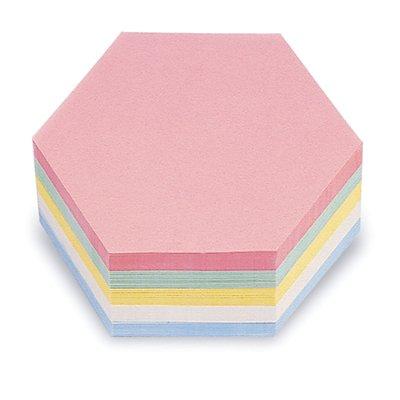 magnetoplan® Kommunikationskarten - Wabe, farbig sortiert, VE 500 Stk - BxH 190 x 165 mm