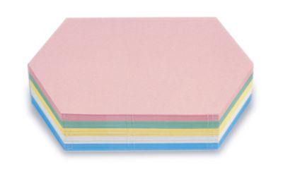 magnetoplan® Kommunikationskarten - Königswabe, farbig sortiert, VE 500 Stk - BxH 297 x 165 mm