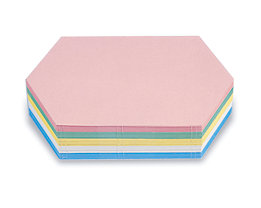 magnetoplan® Fiches cartonnées - format hexagonal allongé, coloris assortis, lot de 500