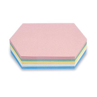 magnetoplan® Fiches cartonnées - format hexagonal allongé, coloris assortis, lot de 500 - l x h 297 x 165 mm