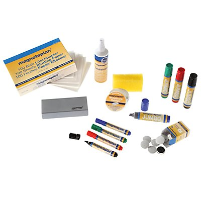 magnetoplan® Zubehörset - für Flipchart - Marker, Löscher, Magnete, Tafelreiniger