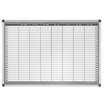 magnetoplan® Wochenplaner-Set - 7-Tage-Woche - BxH 920 x 625 mm
