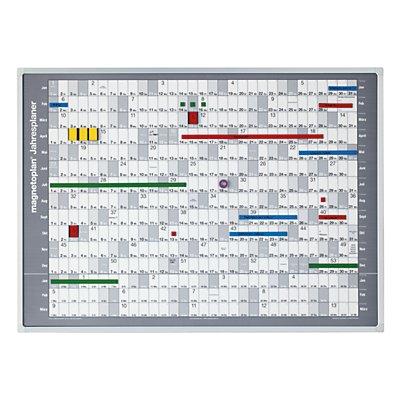 magnetoplan® Jahresplaner-Trägertafel - inkl. Jahresplaner-Folie und Zubehörset - BxH 841 x 594 mm
