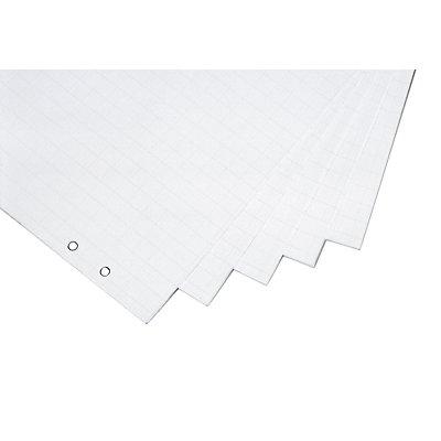 magnetoplan® Flipchart-Papierblock - VE 5 Stk à 20 Blatt, gerollt - Format 650 x 930 mm