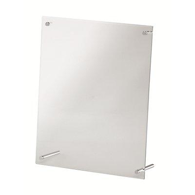 magnetoplan® Tischaufsteller SUPERIOR IMAGE - HxBxT 320 x 260 x 90 mm - glasklar