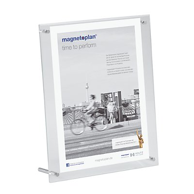 magnetoplan® Présentoir de table SUPERIOR IMAGE - h x l x p 320 x 260 x 90 mm - transparent