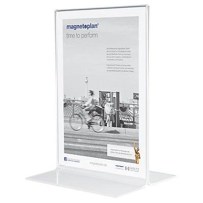 magnetoplan® Présentoir de table - droit - format A3 vertical