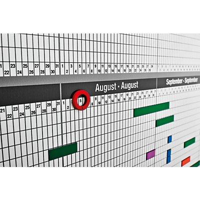 magnetoplan® Kit de planning personnel et de projets - pour 35 employés ou projets - l x h 1200 x 900 mm