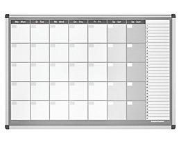 magnetoplan® Planning mensuel type CC, avec kit d'accessoires - semaine de 7 jours
