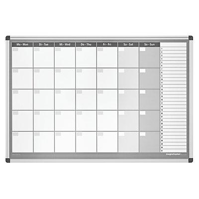 magnetoplan® Planning mensuel type CC, avec kit d'accessoires - semaine de 7 jours - l x h 920 x 625 mm