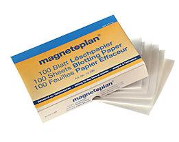 magnetoplan® ferroscript® Löschpapier - 3 VE à 100 Stk - für Tafellöscher