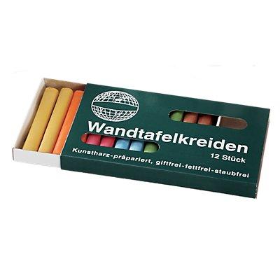 magnetoplan® Kreiden - farbig sortiert, 4 VE à 12 Stk - abgerundet