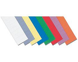 magnetoplan® ferrocard-Etiketten - HxB 10 x 40 mm, 3 VE à 205 Stk - orange