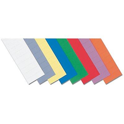 magnetoplan® ferrocard-Etiketten - HxB 15 x 50 mm, 2 VE à 138 Stk - farbig sortiert
