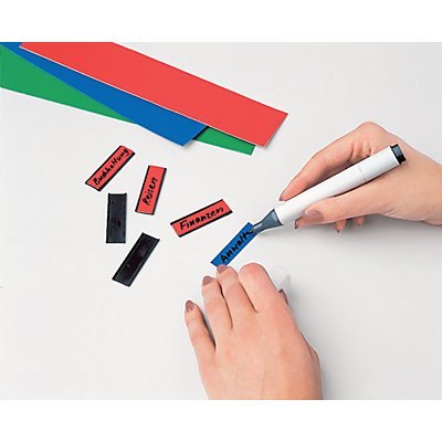 magnetoplan® Etiquettes ferrocard - h x l 15 x 50 mm, 2 lots de 138 pièces - coloris assortis