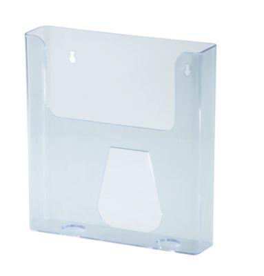 magnetoplan® Prospekthalter DIN lang STANDARD - für DIN lang hoch, VE 4 Stk - Acryl glasklar