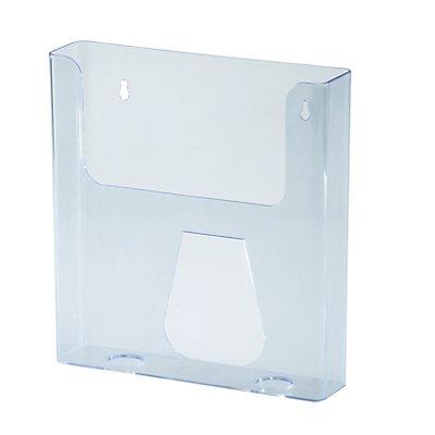 magnetoplan® Porte-prospectus STANDARD - pour format à la verticale, lot de 4 - acrylique transparent