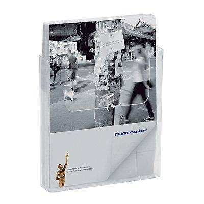 magnetoplan® Porte-prospectus STANDARD - pour format A4 à la verticale, lot de 2 - acrylique transparent
