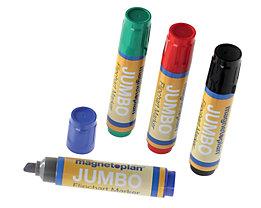 magnetoplan® Marqueurs pour papier JUMBO - épaisseur du trait 2 – 10 mm, 2 lots de 4 pièces