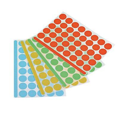 magnetoplan® Markierungspunkte - selbstklebend, 4 VE à 1200 Stk - farbig sortiert