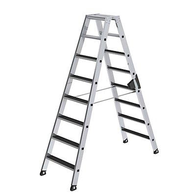 Günzburger Steigtechnik Stufen-Stehleiter - beidseitig begehbar, geriffelt