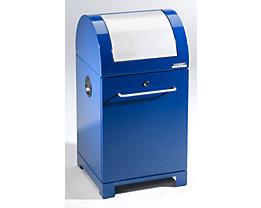 EUROKRAFT System-Wertstoffsammler 40 l - mit Innenbehälter, handbetätigt - blau / grau