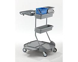 QUIPO Kunststoff-Reinigungswagen - 2 x 6-l-Eimer