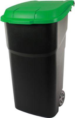 Rothopro Wertstofftonne aus Kunststoff - Volumen 100 l, fahrbar