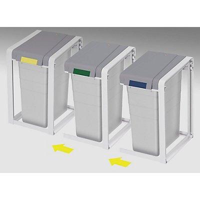 Hailo Wertstoffsammlersystem, flexibel - 3er-Station - Volumen 3 x 35 l
