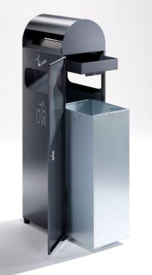 Kombiascher - Volumen Abfallsammler 31,5 l, Volumen Ascher 3 l - HxBxT 990 x 300 x 250 mm