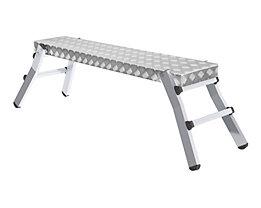 Plate-forme de travail en aluminium - L x l plate-forme 1300 x 290 mm
