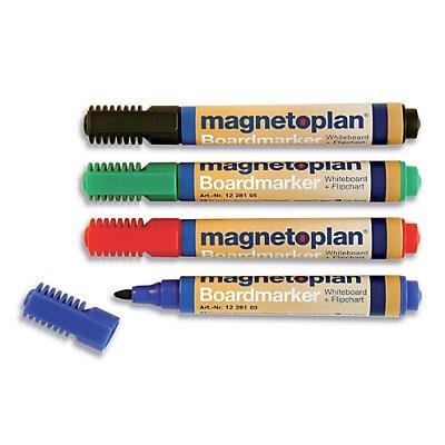 magnetoplan® Board- und Flipchartmarker - Strichstärke 1,5 – 3 mm, 6 VE à 4 Stk