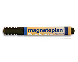 magnetoplan® Board- und Flipchartmarker - Strichstärke 1,5 – 3 mm, 6 VE à 4 Stk - schwarz