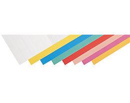 magnetoplan® Einsteckschilder - HxB 15 x 60 mm, 5 VE à 115 Stk - rot