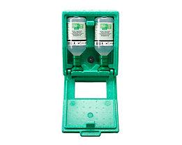 Notfall-Wandbox mit Augenspülflaschen - 2 x Kochsalzlösung