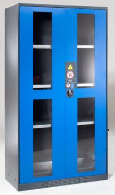 asecos Chemikalienschrank - Tür mit Sichtfenstern