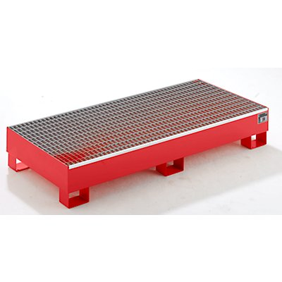 QUIPO Auffangwanne aus Stahlblech - LxBxH 1800 x 800 x 275 mm