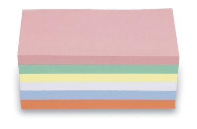 magnetoplan® Kommunikationskarten - rechteckig, 2 VE à 500 Stk - farbig sortiert, 200 x 100 mm