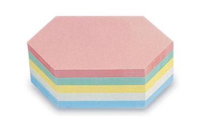 magnetoplan® Kommunikationskarten - Rhombus, farbig sortiert, 2 VE à 500 Stk - BxH 200 x 95 mm