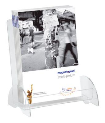 magnetoplan® Prospekthalter PREMIUM - für DIN A4 - HxBxT 280 x 245 x 100 mm