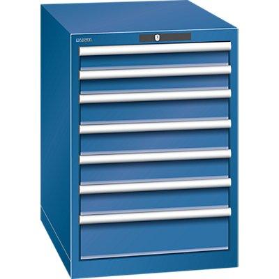 Lista Schubladenschrank, Stahlblech - HxB 800 x 564 mm, 7 Schubladen