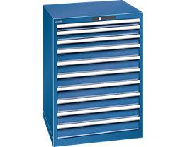Lista Schubladenschrank, Stahlblech - HxB 1000 x 717 mm, 10 Schubladen
