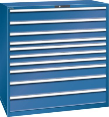 Lista Schubladenschrank, Stahlblech - HxB 1450 x 1431 mm, 10 Schubladen