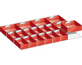 LISTA Kunststoffeinsatzkasten - für Schrankmaße 564 x 725 mm - für Schubladenhöhe 75 mm