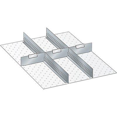 Trennwand - für Schrankmaße 564 x 725 mm - für Schubladenhöhe 150 mm